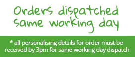 Orders dispatched same working day
