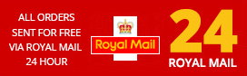 All orders sent for FREE via Royal Mail 24 Hour Service