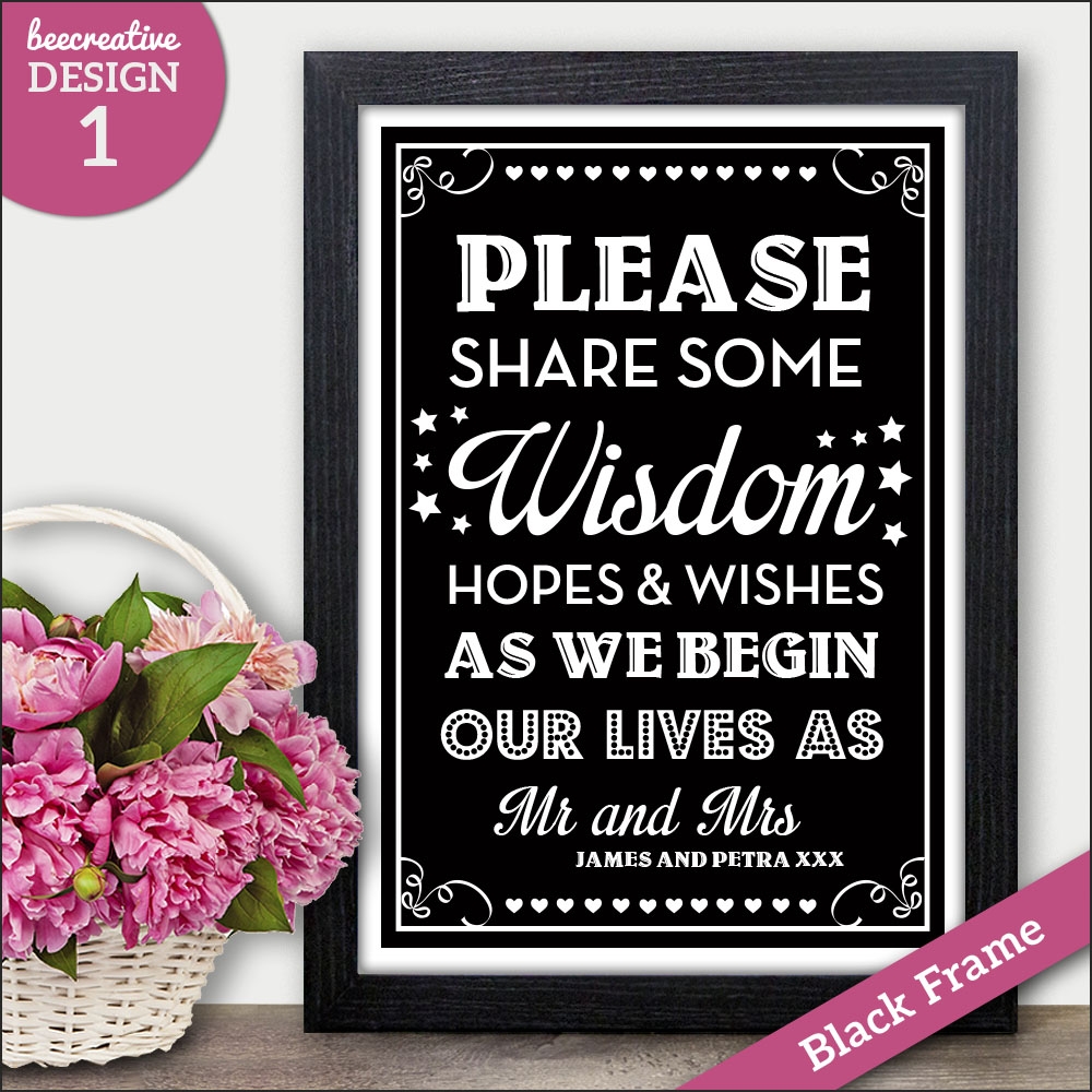 09b8a083d6b1 PERSONALISED Chalkboard Style Wedding POLAROID GUEST BOOK Sign POSTER Print