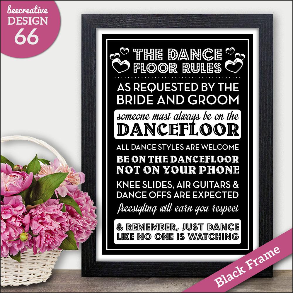 Wedding Dance Sing Drink Personalised Sign