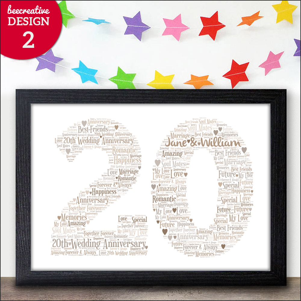 Details about 20th Wedding Anniversary Gifts - 20 Years Anniversary Presents - Twenty China  sc 1 st  eBay & 20th Wedding Anniversary Gifts - 20 Years Anniversary Presents ...