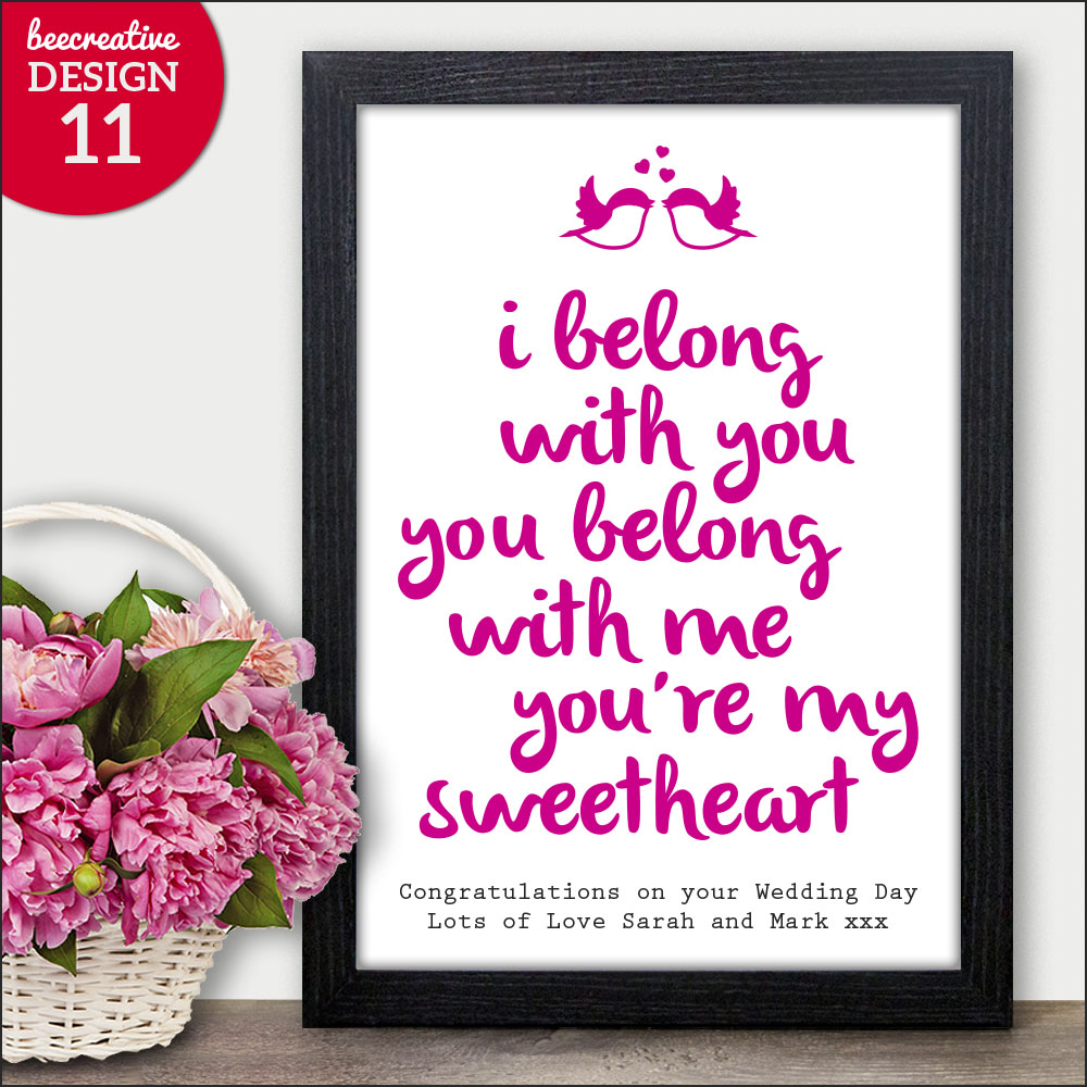 Day You Were Married Personalised Wedding Gifts Presents Bride Groom ...
