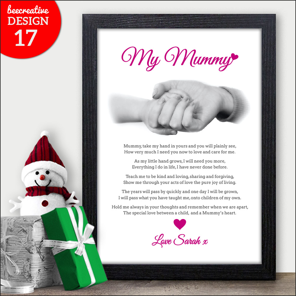 best mum mummy nanny granny personalised poem christmas gifts presents xmas ebay