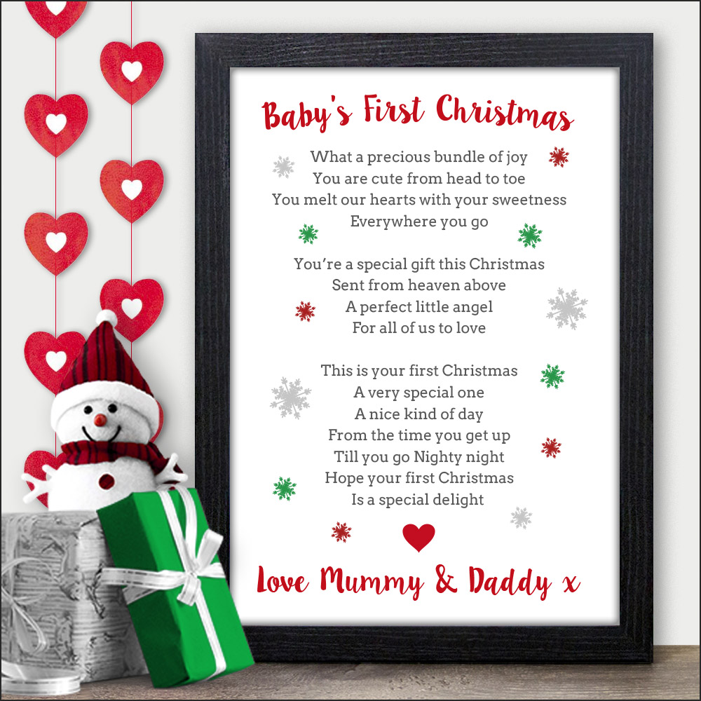 Baby 1st Christmas Personalised Gifts First Xmas Keepsake Presents ...