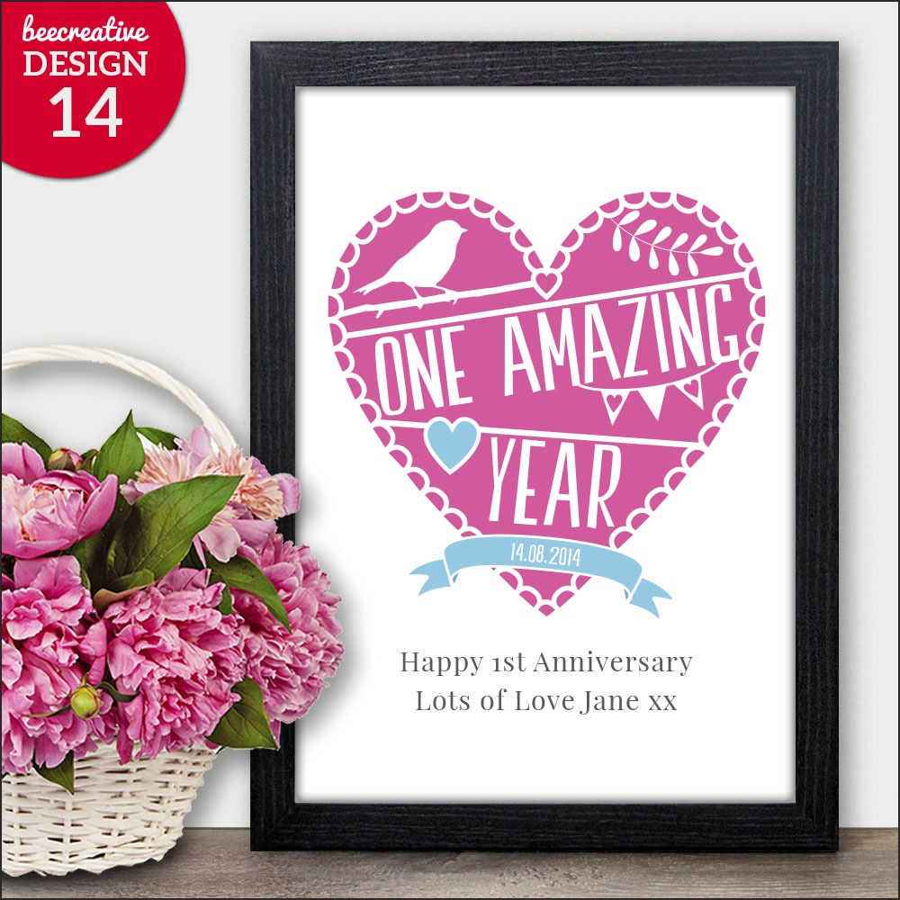 Personalised Wedding Engagement Anniversary Gift Word Art Present ...